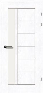 Межкомнатные двери Двери 19.23 Брама ясень альпийский стекло Сатин