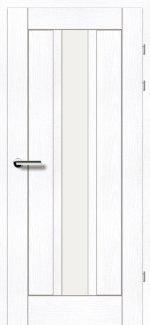 Межкомнатные двери Двери 19.25 Брама ясень альпийский стекло Сатин