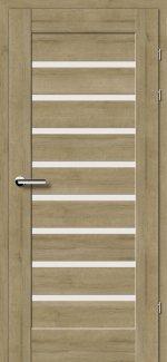 Межкомнатные двери Двери 18.31 EuroDoors Брама дуб натуральный стекло Сатин