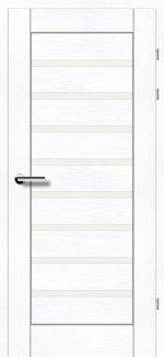 Межкомнатные двери Двери 19.31 Брама ясень альпийский стекло Сатин