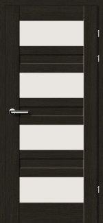 Межкомнатные двери Двери 19.3 Брама черный дуб стекло Сатин