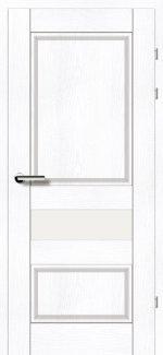 Двери 19.54 ясень альпийский стекло Сатин