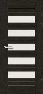Межкомнатные двери Двери 19.5 Брама черный дуб стекло Сатин