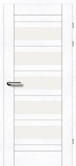 Межкомнатные двери Двери 19.5 Брама ясень альпийский стекло Сатин