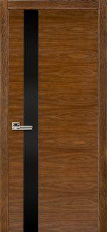 Двери Терминус Модель 21 орех американский с черным стеклом