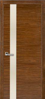 Двери Терминус Модель 21 орех американский с молочным стеклом
