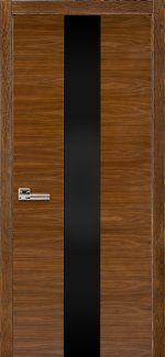 Двери Терминус Модель 23 орех американский с черным стеклом