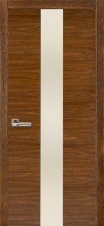 Двери Терминус Модель 23 орех американский с молочным стеклом
