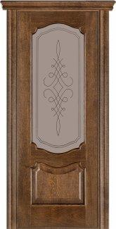Двери Терминус Модель 41 Каро дуб браун со стеклом 05