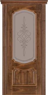 Двери Терминус Модель 41 Каро орех американский со стеклом 05