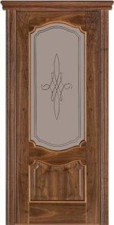 Межкомнатные двери Модель 41 Каро Термінус горіх американський зі склом 3