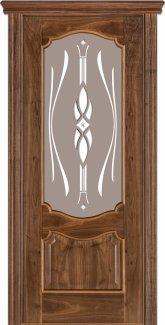 Межкомнатные двери Модель 41 Каро Термінус горіх американський зі склом 9