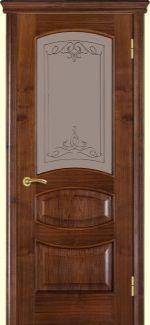 Двери Терминус Модель 50 Каро орех американский со стеклом 04