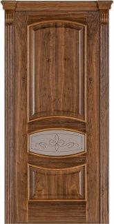 Двери Терминус Модель 50 Каро орех американский со стеклом 02