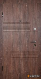 Входные двери Двери Abwehr Duo 350 дуб портовый / дуб песочный