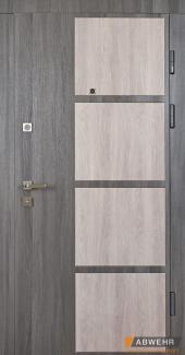Входные двери Двери Abwehr Novita 372 лиственница серая / дуб немо серебристый