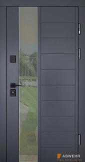 Входные двери Двери Abwehr Ufo 367 МДФ покраска RAL 7016 / антрацит Vinorit