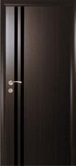 Двери Вита Black Новый Стиль венге DeWild стекло черное