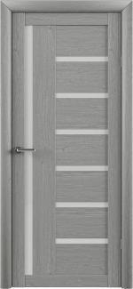 Межкомнатные двери Двери Bianca Альберо ясень дымчатый стекло Сатин