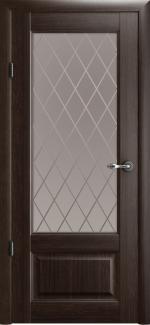 Межкомнатные двери Двери Эрмитаж-1 Альберо орех стекло Ромб