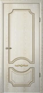 Межкомнатные двери Двери Леонардо Альберо ясень голд с патиной глухое