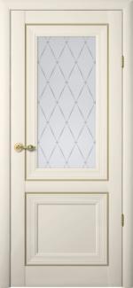 Межкомнатные двери Двери Прадо Альберо ванильный стекло Гранд