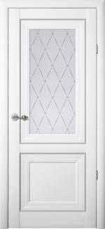 Межкомнатные двери Двери Прадо Альберо белый стекло Гранд