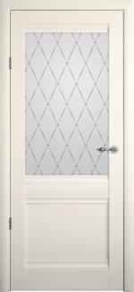 Межкомнатные двери Двери Рим Альберо ванильный стекло Гранд