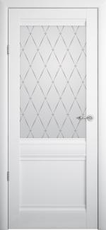Межкомнатные двери Двери Рим Альберо белый стекло Гранд