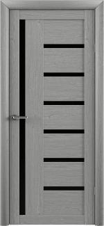 Межкомнатные двери Двери Bianca Альберо ясень дымчатый стекло черное
