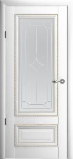 Межкомнатные двери Двери Версаль-1 Альберо белый стекло Галерея