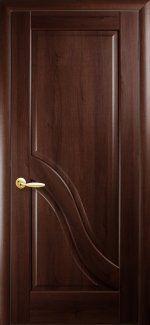 Межкомнатные двери Амата Новый Стиль каштан делюкс глухое
