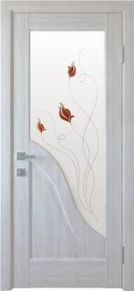 Межкомнатные двери Амата Новый Стиль ясень делюкс со стеклом Р1
