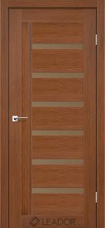 Межкомнатные двери Двері Amelia Леадор браун скло Бронза