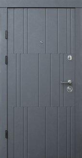 Двери Qdoors Премиум Арт бетон графит / бетон крем
