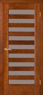 Межкомнатные двери Астория НСД каштан со стеклом