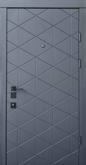 Входные двери Двери Qdoors Авангард Бакарди антрацит / белая эмаль