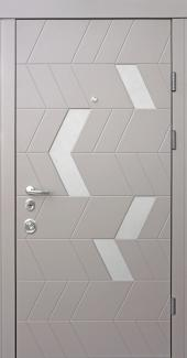 Входные двери Двери Qdoors Авангард Конверс-М амаретто / грей софт
