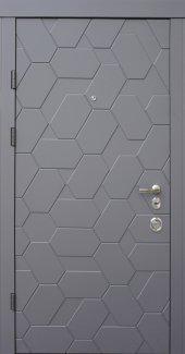Двері Qdoors Авангард Поло елегант сірий / білий супермат