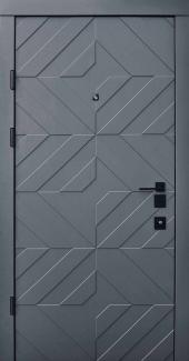 Входные двери Двери Qdoors Авангард Тиффани грифель структура софт / белая эмаль