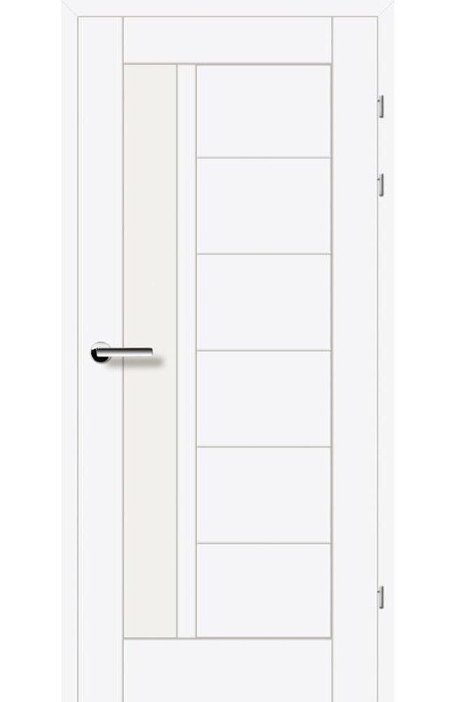 Двері 19.23 Брама білий гладкий скло Сатін