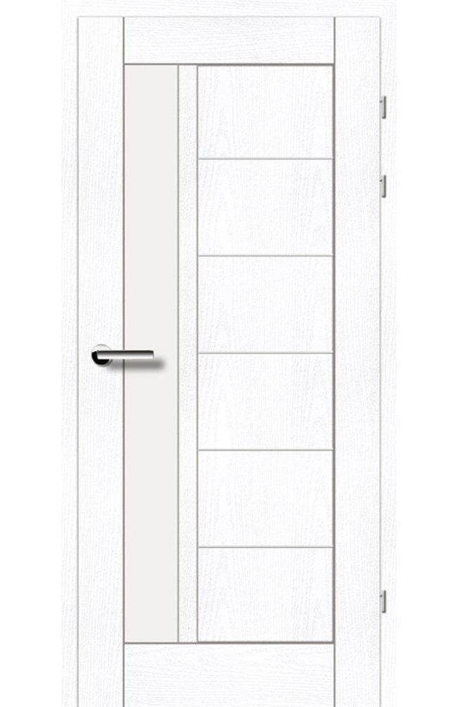 Двери 19.23 Брама ясень альпийский стекло Сатин