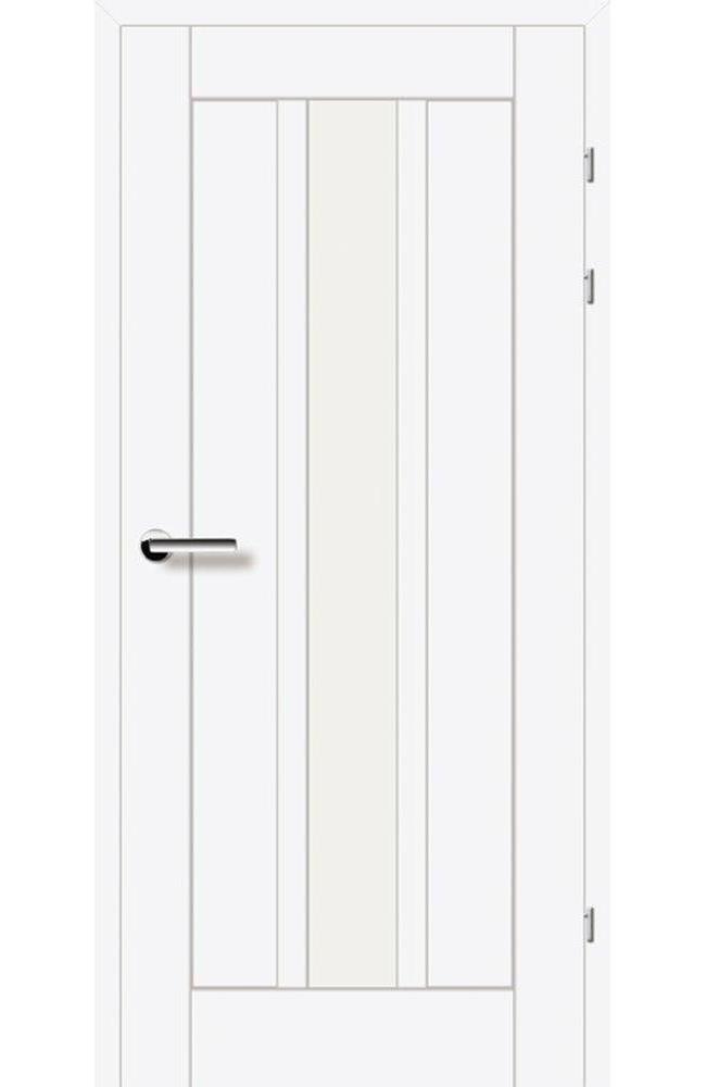 Двери 19.25 Брама белый гладкий стекло Сатин