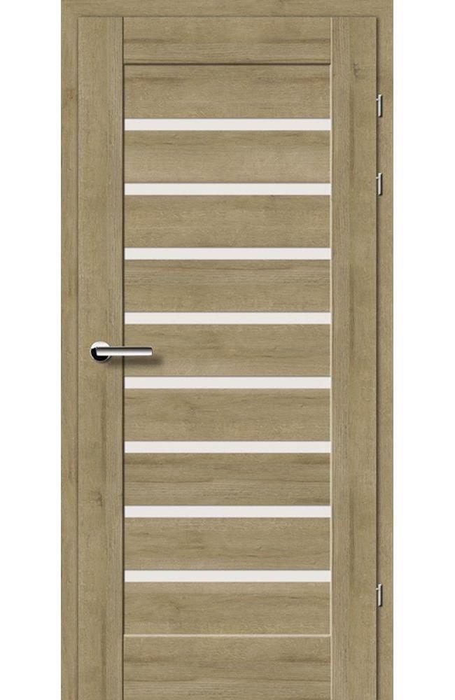 Двері 19.31-Е Брама дуб натуральний скло Сатін