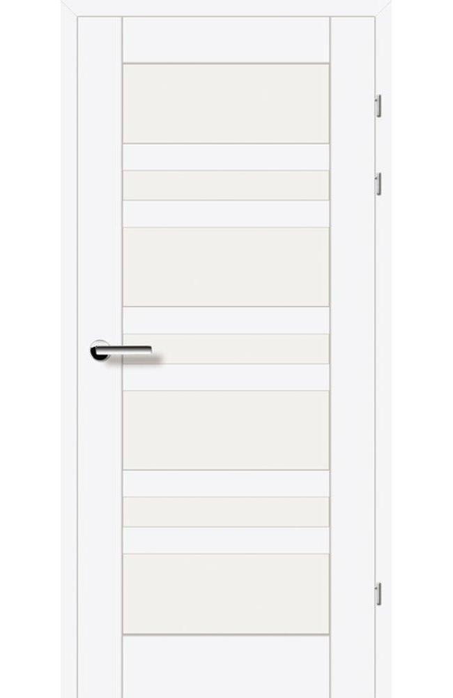 Двері 19.3 Брама білий гладкий скло Сатін