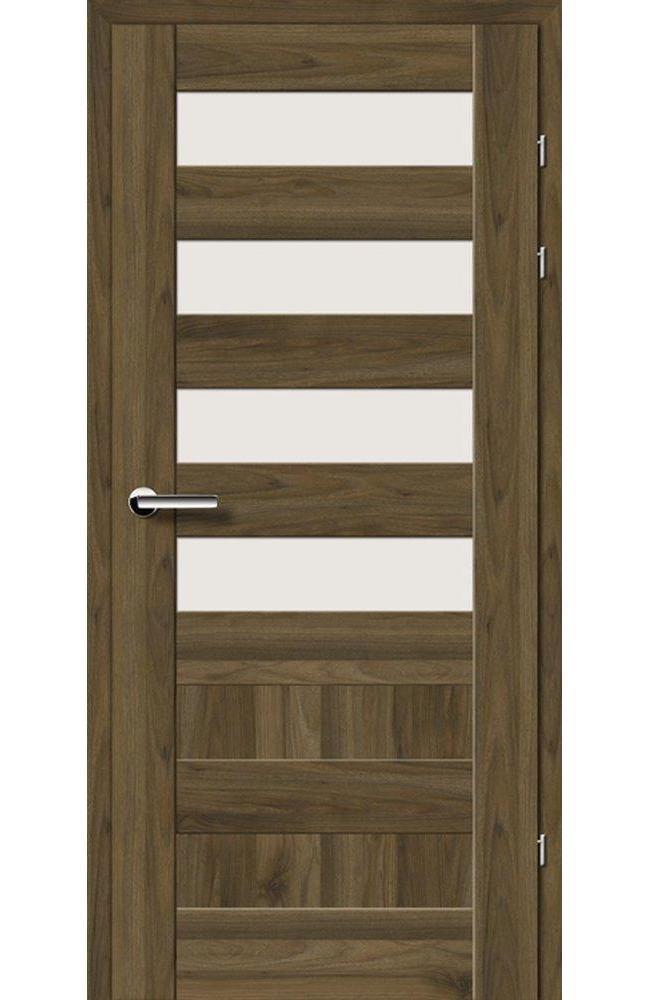Двері 19.44 EuroDoors Брама горіх американський скло Сатін