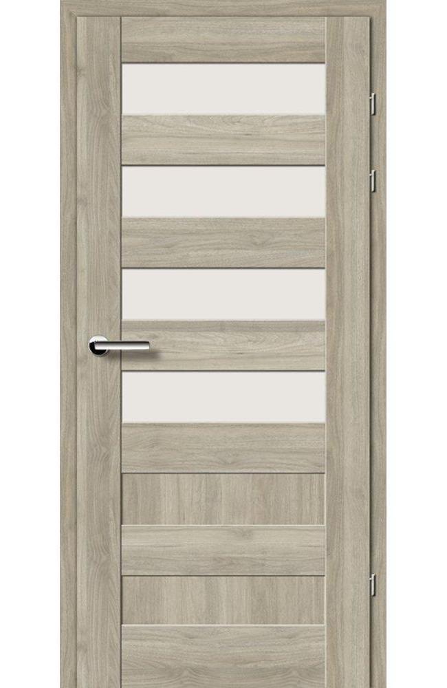 Двери 19.44 EuroDoors Брама орех серый стекло Сатин