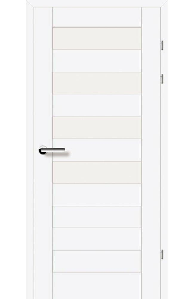 Двери 19.44 EuroDoors Брама белый премиум стекло Сатин