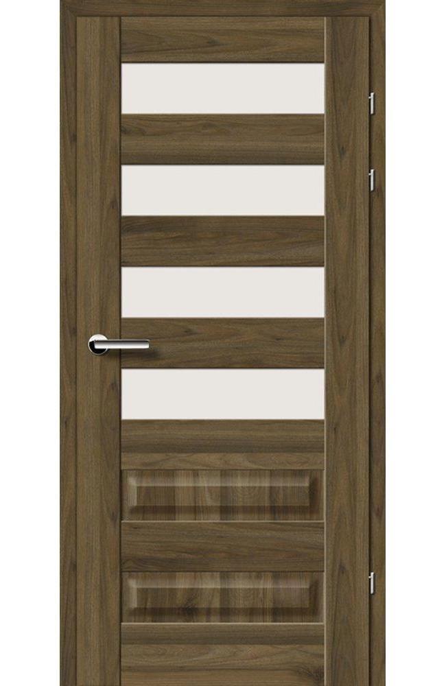 Двері 19.44 Брама горіх американський скло Сатін