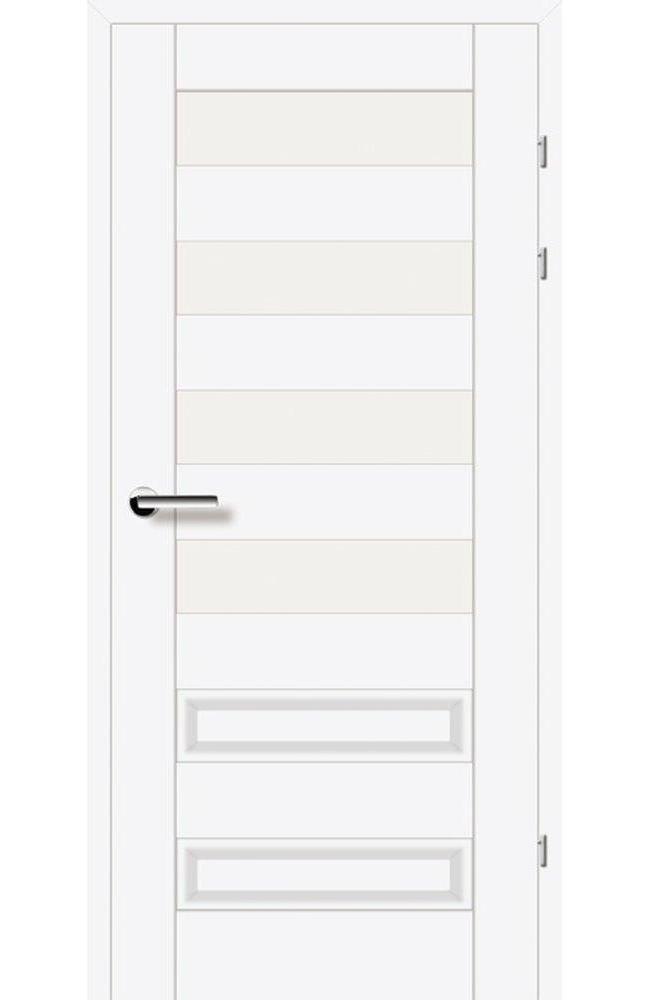 Двери 19.44 Брама белый гладкий стекло Сатин